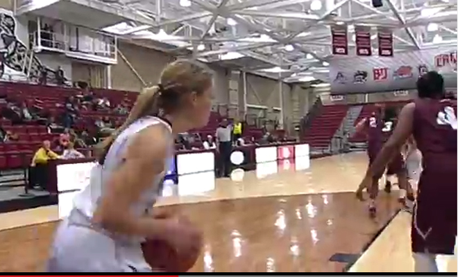 College hoops player wins game with the oldest trick in the book